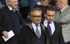 Everton's Iranian owner Farhad Moshiri (C) arrives for the English Premier League football match between Everton and Chelsea at Goodison Park in Liverpool, north-west England on 30 April 2017. Picture: AFP