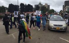 Hundreds of Zimbabweans have taken to the streets in a peaceful march calling for the axing of president of president Robert Mugabe on 18 November 2018. Picture: EWN.