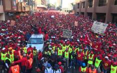 Saftu workers protest in the Johannesburg CBD on Wednesday 25 April 2018. Picture: Mia Lindeque/EWN