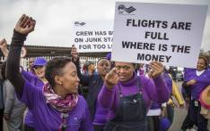 FILE: SAA staff protest outside the SAA Administration offices at the OR Tambo Airport. Picture: Thomas Holder/EWN