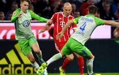 Bayern Munich lost its lead during a match in Munich to VfL Wolfsburg to draw 2-2 on Friday 22 September 2017. Picture: @VfLWolfsburg_EN