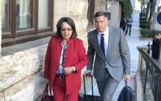 Cape Town Mayor Patricia de Lille arrives in Parliament for the first day of her disciplinary hearings on 20 March 2018. Picture: Kevin Brandt/EWN