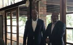 FILE: North West Premier Supra Mahumapelo seen on 18 April 2018, where ANC met to discuss tensions in the province amid calls for his resignation. Picture: Ihsaan Haffajee/EWN.