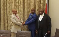 Bongani Bongo sworn in as State Security Minister by Judge President of the Western Cape High Court, John Hlophe, at Tuynhuys on 18 October 2017. Picture: Twitter/@SAgovnews