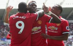 Manchester United players celebrate a goal during a match against Swansea on 19 August 2017. Picture: @ManUtd.