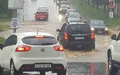 Some motorists are reportedly stuck at the Gilloolys interchange on the stretch of the N3 highway in Bedfordview due to flooding. Picture: Supplied.