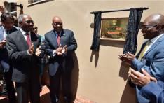KwaZulu-Natal Premier Willies Mchunu and President Jacob Zuma (left) launch the third Invest SA One Stop Shop in KwaZulu-Natal on 18 November 2017. Picture: @PresidencyZA/Twitter