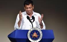 Philippines' President Rodrigo Duterte. Picture: AFP.
