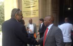 FILE: Nkosinathi Biko and Imtiaz Cajee at the High Court in Johannesburg, after successfully interdicting an auction that looked to sell the autopsy reports of Steve Biko and Ahmed Timol on 3 December 2014. Picture: Govan Whittles/EWN