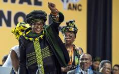 FILE: Winnie Madikizela-Mandela is seen saluting the crowd at the opening of the ANC's national conference on 16 December 2017. Picture: Ihsaan Haffejee/EWN
