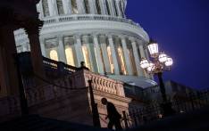 Lawmakers arrive at the House chamber to vote on the continuing resolution to fund the federal government, Capitol Hill, 22 January, 2018 in Washington, DC. Picture: AFP