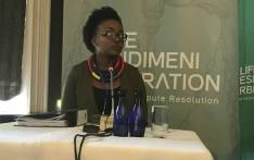 Boitumelo Mangena at the Esidimeni arbitration hearings in Parktown, Johannesbug on 20 October 2017. Picture: Masego Rahlaga/EWN