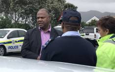 Western Cape Community Safety MEC Dan Plato in Ocean View on 22 September 2017 where residents have protested against alleged police corruption and gang violence. Picture: Kevin Brandt/EWN