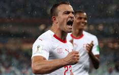 Switzerland's forward Xherdan Shaqiri. Picture: @FIFAWorldCup/Twitter