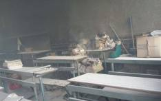 The inside of a Tshitale school near Vuwani in Limpopo after being vandalised during a protest. Picture: SAPS