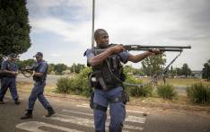Police fire rubber bullets at protesters in Krugersdorp on 22 January 2018. Picture: Thomas Holder/EWN