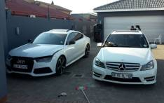 FILE: Two of the hijacked vehicles recovered by police. Picture: @SAPoliceService/Twitter