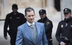 In this file photo taken on 23 February 2017 former Olympic handball player and husband of Spain's Princess Cristina, Inaki Urdangarin (C) leaves the courthouse in Palma de Mallorca, on the Spanish Balearic Island of Mallorca. Picture: AFP