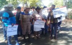 Gauteng Community Safety MEC Sizakele Nkosi-Malobane leads a march in Vanderbijlpark. Picture: @GP_CommSafety/Twitter
