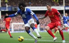 Everton forward Romelu Lukaku controls the ball playing against Liverpool on 23 November 2013 at Goodison Park. Picture: Facebook.