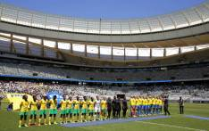 Banyana Banyana line up against Sweden in their international friendly at the Cape Town Stadium on 21 January 2018. Picture: @SAFA_net/Twitter