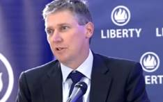 A YouTube screengrab shows Liberty CEO David Munro who addressed the media on 17 June 2018, after Liberty Group's system was hacked.
