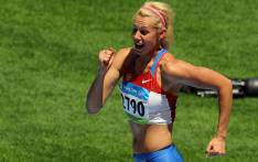 FILE: Russia's Tatiana Chernova competes during the women's Heptathlon High Jump group A at the National stadium as part of the 2008 Beijing Olympic Games on August 15, 2008. Picture: AFP.