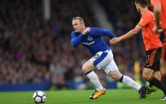 Everton's Wayne Rooney pursues the ball during the Uefa Europa League third qualifying round, Game 1 match between Everton and Ruzomberok at Goodison Park football stadium in Liverpool on 27 July 2017. Picture: AFP.