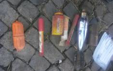 Police have found military explosives ammunition and drugs at a house in Dunnotar near Nigel. Picture: SAPS.