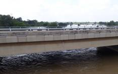 A bridge along the R101 has collapsed following heavy rains in parts of the country. Picture: Saps