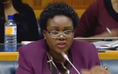 A screengrab of Communications Minister Mmamoloko Kubayi-Ngubane in Parliament.