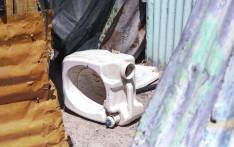 An abandoned used portable flush toilet. Picture: Cindy Archillies/EWN
