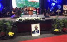 Mourners bid farewell to the late ANC veteran Zola Skweyiya at the Christian Revival Church in Pretoria. Picture: Thando Kubheka/EWN.
