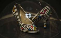 'South Africa ahead' an art piece created by Esther Mahlangu which is part of the Hidden Treasures exhibition at the Iziko National Gallery. Picture: Cindy Archillies/EWN