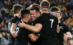 New Zealand All Blacks celebrate during a match against Australia Wallabies at Stadium Australia in Sydney on August 19, 2017. Picture: @AllBlacks.