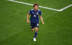 Japan's Takashi Inui celebrates scoring against Senegal on 24 June 2018. Picture: @FIFAWorldCup/Twitter