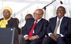 FILE: President Jacob Zuma with Deputy President Cyril Ramaphosa anc ANC MP Nkosaza Dlamini-Zuma during the 60th Anniversary of the National Women's Day celebrations at the Union Buildings, Pretoria. Picture: GCIS.