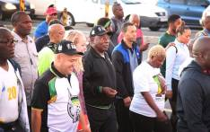 President Cyril Ramaphosa is joined by Western Cape ANC branch members and members of the public during an early morning walk from Gugulethu Stadium to Athlone Stadium in Cape Town on 20 February 2018. Picture: Bertram Malgas/EWN