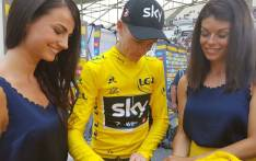 Chris Froome signing a yellow jersey. Picture: Twitter/@LeTour.