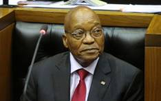 President Jacob Zuma in Parliament. Picture: AFP.