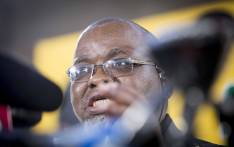Always in the spotlight, surrounded by journalists and microphones, outgoing ANC secretary-general Gwede Mantashe makes his last press briefing on 18 December, 2017. Picture: Thomas Holder/EWN