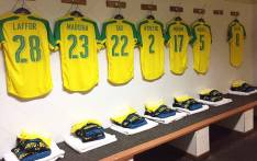 Sundowns locker room. Picture:Sundowns Twitter @Masandawana