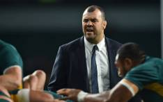 Australia's coach Michael Cheika watches his players warm up ahead of the Rugby Championship International test match between Argentina and Australia at Twickenham stadium in south west London on 8 October 2016. Picture: AFP.