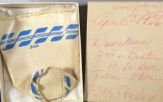 A screengrab from online auction site eBay showing a paper cup Elvis Presley once drunk from in 1956.