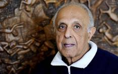 FILE: the late Ahmed Kathrada, anti-apartheid activist and close friend of former South African President Nelson Mandela poses on July 16, 2012 in his house in Johannesburg. Picture: AFP