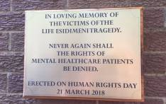 The plaque unveiled by DA leader Mmusi Maimane on Wednesday, remembering the victims of the Life Esidimeni tragedy. Picture: @Our_DA/Twitter.