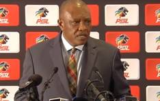 A screengrab of PSL chairperson Irvin Khoza addressing the media.