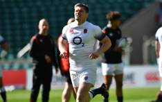 England's Owen Farrell during a training session. Picture: AFP
