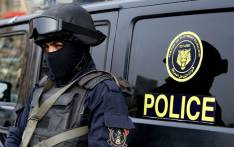 An Egyptian policeman stands guard. Picture: AFP
