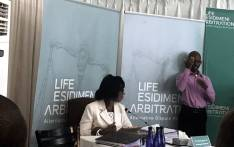 Dr Makgabo Manamela, former Gauteng director of mental health, testifies during Life Esidimeni arbitration hearings on 20 November 2017. Picture: Masego Rahlaga/EWN